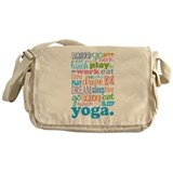 Yoga Gift For Her Messenger Bag