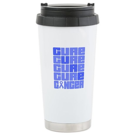 CURE Stomach Cancer Collage Ceramic Travel Mug