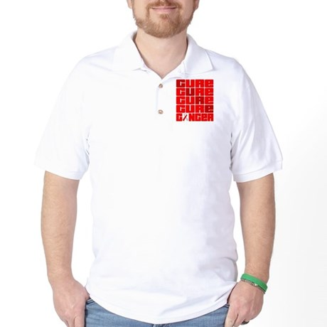 CURE Oral Cancer Collage Golf Shirt