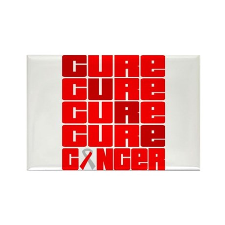 CURE Oral Cancer Collage Rectangle Magnet