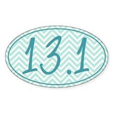 13.1 Blue Chevron Decal