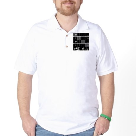 CURE Skin Cancer Collage Golf Shirt