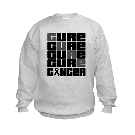 CURE Skin Cancer Collage Kids Sweatshirt