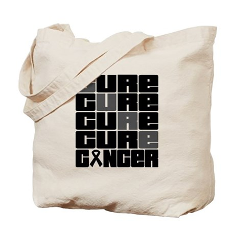 CURE Skin Cancer Collage Tote Bag