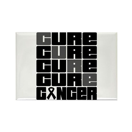 CURE Skin Cancer Collage Rectangle Magnet