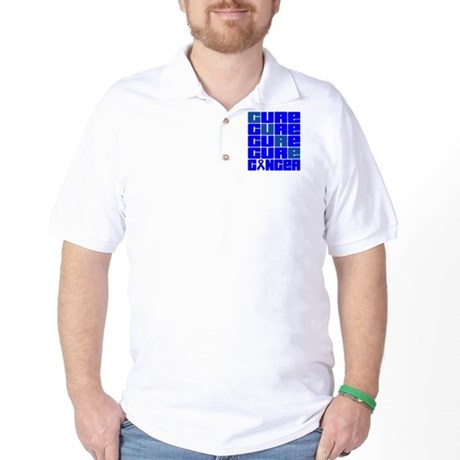 CURE Rectal Cancer Collage Golf Shirt