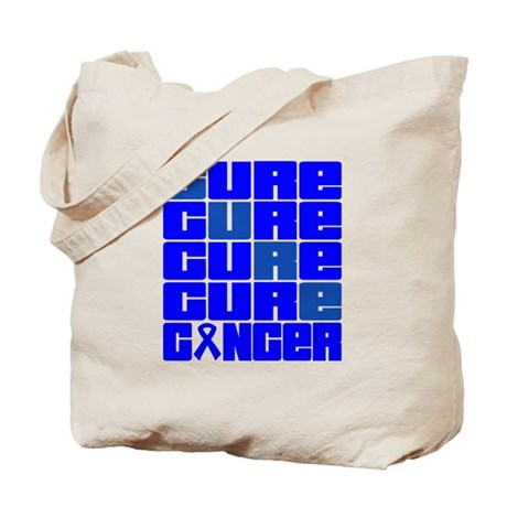 CURE Rectal Cancer Collage Tote Bag