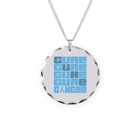 CURE Prostate Cancer Collage Necklace Circle Charm