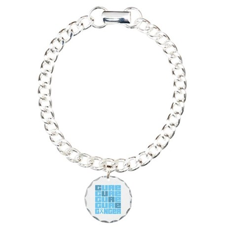 CURE Prostate Cancer Collage Charm Bracelet, One C