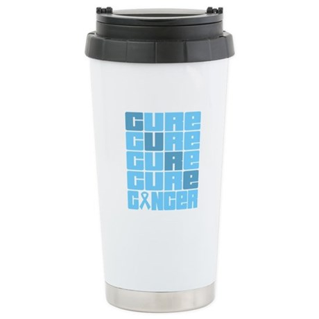 CURE Prostate Cancer Collage Ceramic Travel Mug
