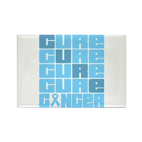 CURE Prostate Cancer Collage Rectangle Magnet