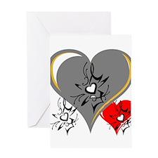 OYOOS Three Hearts design #2 Greeting Card