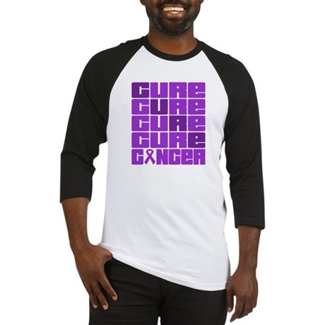 CURE Pancreatic Cancer Collage Baseball Jersey