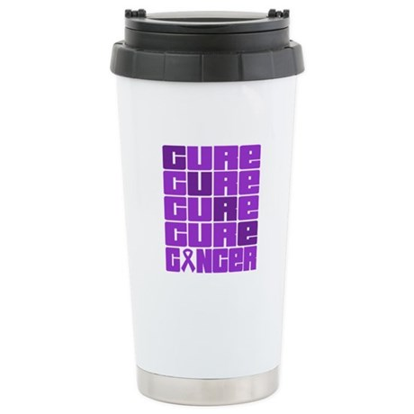 CURE Pancreatic Cancer Collage Ceramic Travel Mug