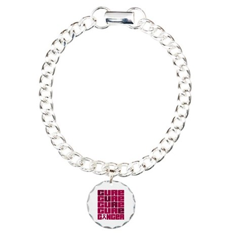 CURE Multiple Myeloma Collage Charm Bracelet, One