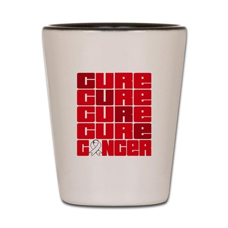 CURE Mesothelioma Collage Shot Glass