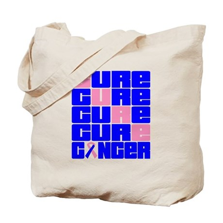 CURE Male Breast Cancer Collage Tote Bag