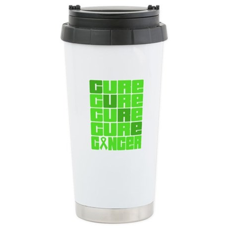 CURE Lymphoma Collage Ceramic Travel Mug