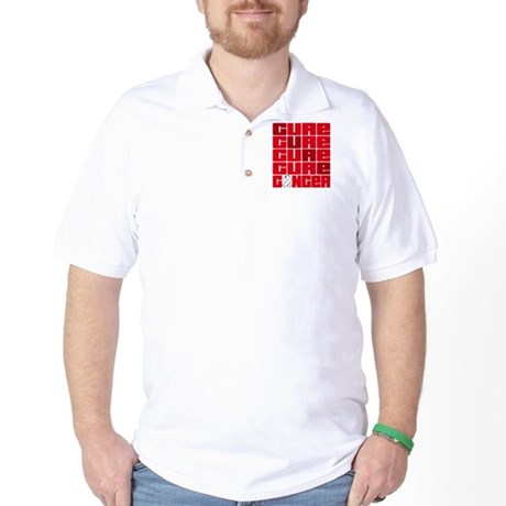 CURE Lung Cancer Collage Golf Shirt