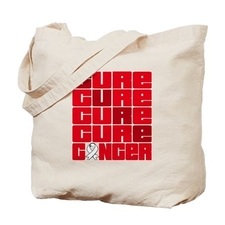 CURE Lung Cancer Collage Tote Bag