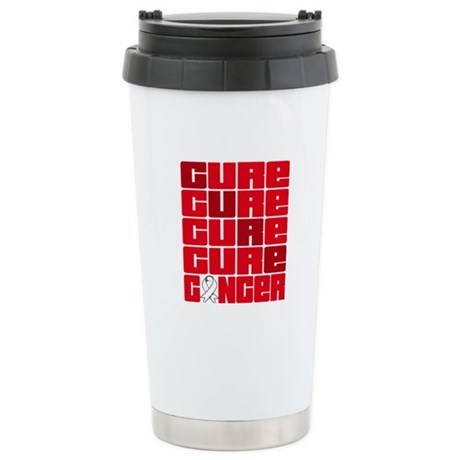CURE Lung Cancer Collage Ceramic Travel Mug