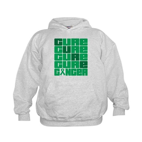 CURE Liver Cancer Collage Kids Hoodie