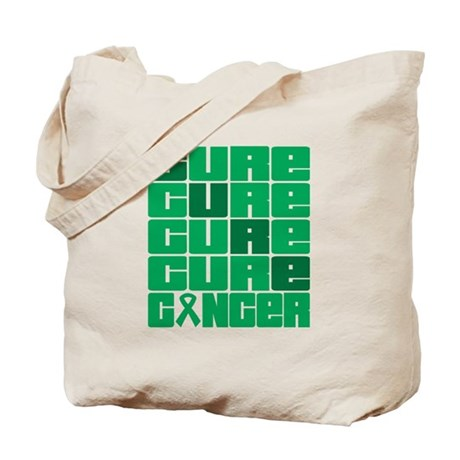 CURE Liver Cancer Collage Tote Bag