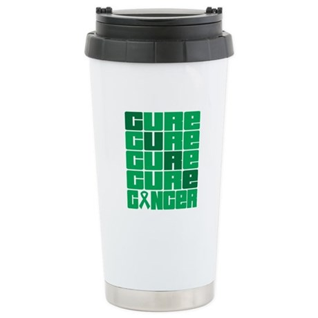 CURE Liver Cancer Collage Ceramic Travel Mug