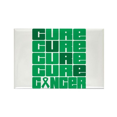 CURE Liver Cancer Collage Rectangle Magnet