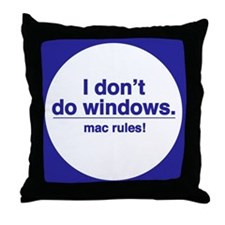 Mac Rules - Throw Pillow