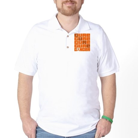 CURE Leukemia Collage Golf Shirt