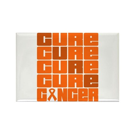 CURE Leukemia Collage Rectangle Magnet