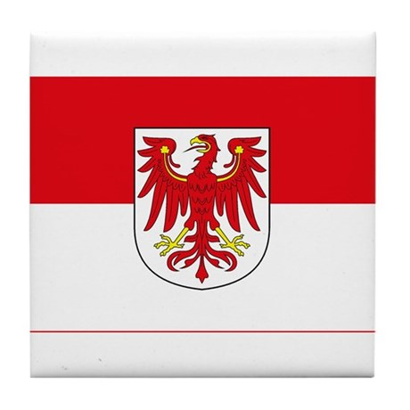 Brandenburg Flag Tile Coaster