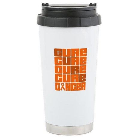 CURE Kidney Cancer Collage Ceramic Travel Mug