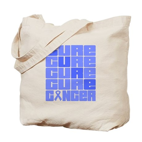 CURE Intestinal Cancer Collage Tote Bag