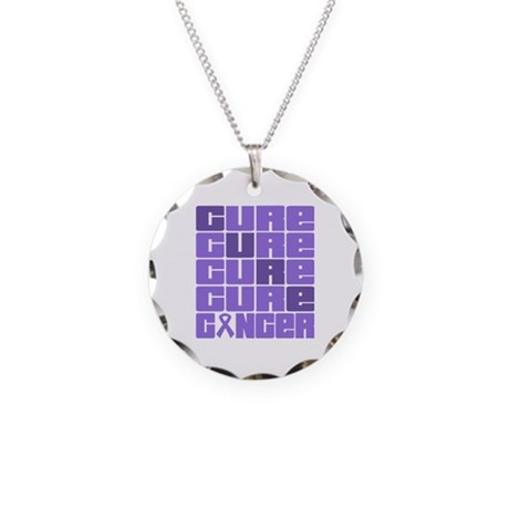 CURE Hodgkins Lymphoma Collage Necklace Circle Cha