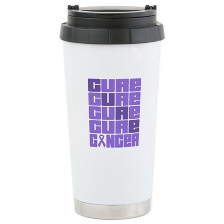 CURE Hodgkins Lymphoma Collage Ceramic Travel Mug