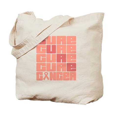 CURE Endometrial Cancer Collage Tote Bag