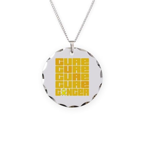 CURE Ewings Sarcoma Collage Necklace Circle Charm