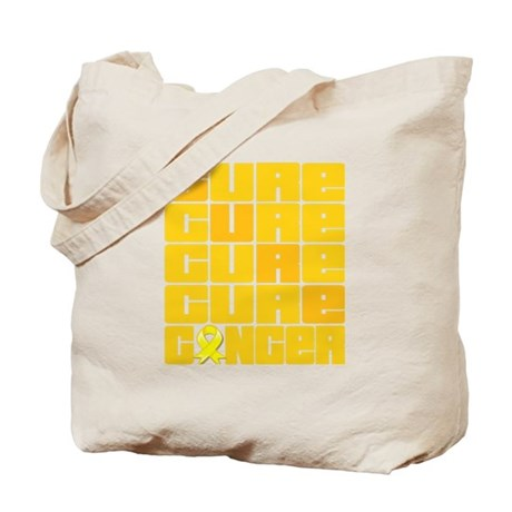 CURE Ewings Sarcoma Collage Tote Bag