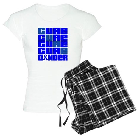 CURE Colon Cancer Collage Women's Light Pajamas