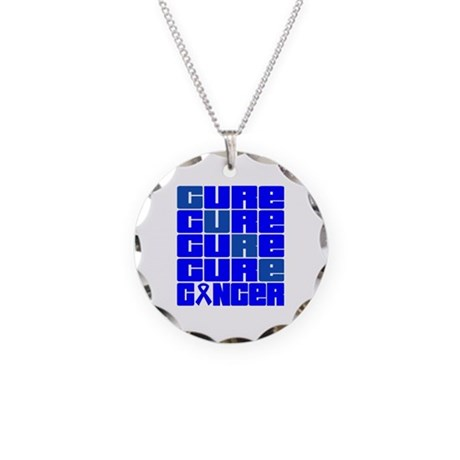 CURE Colon Cancer Collage Necklace Circle Charm
