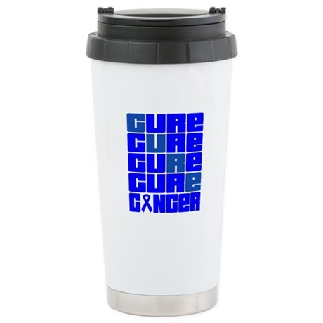 CURE Colon Cancer Collage Ceramic Travel Mug