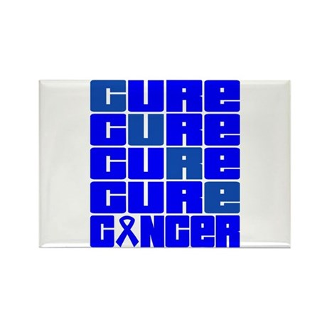 CURE Colon Cancer Collage Rectangle Magnet