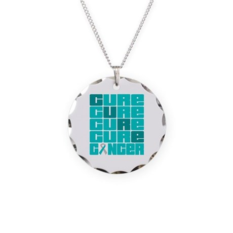 CURE Cervical Cancer Collage Necklace Circle Charm