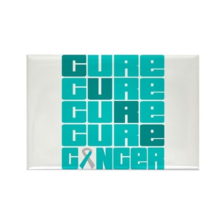 CURE Cervical Cancer Collage Rectangle Magnet