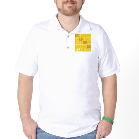 CURE Childhood Cancer Collage Golf Shirt