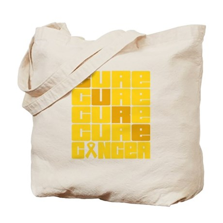 CURE Childhood Cancer Collage Tote Bag