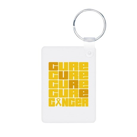 CURE Childhood Cancer Collage Aluminum Photo Keych
