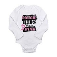 Tough Kids Wear Pink Long Sleeve Infant Bodysuit